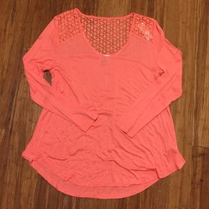 NWT Old Navy Coral Crochet Back Swing Top